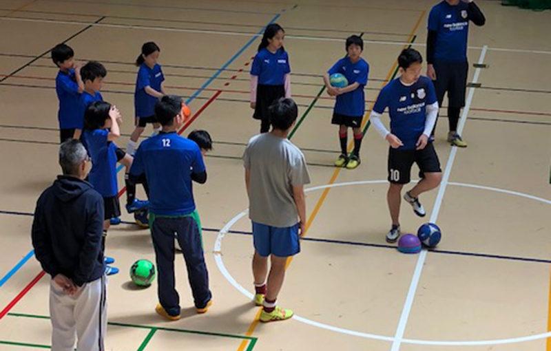 アジアンタールの選手との練習風景
